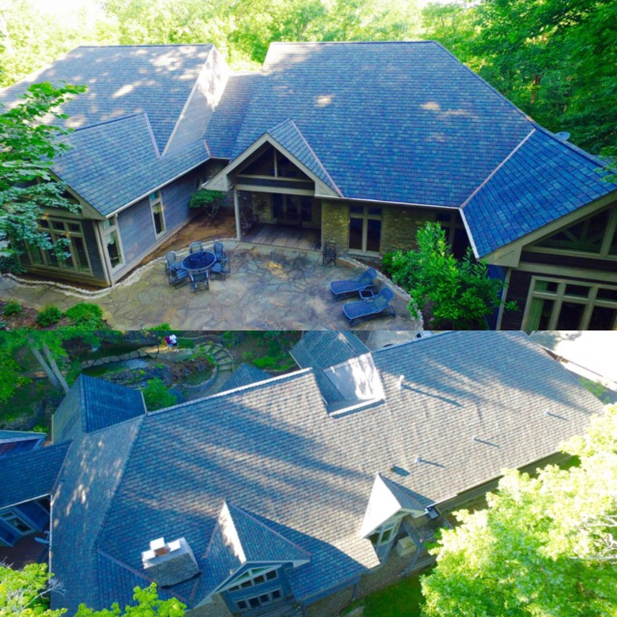 Gorgeous grey shingles completed by Bowling Roofing.