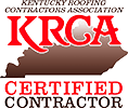 Logo of KRCA, of which Bowling Roofing is a certified contractor.