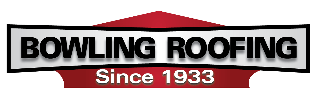 White Bowling Roofing logo.